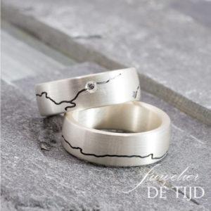 Set Ijssel ringen met briljant