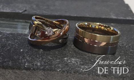 Tri-color gouden trouwringen