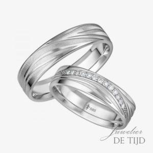 14 karaats wit gouden trouwringen Sandrine