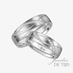 14 karaats wit gouden trouwringen Edith