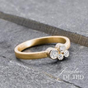 Fairmined Fairtrade Thalia verlovingsring met briljant geslepen diamanten