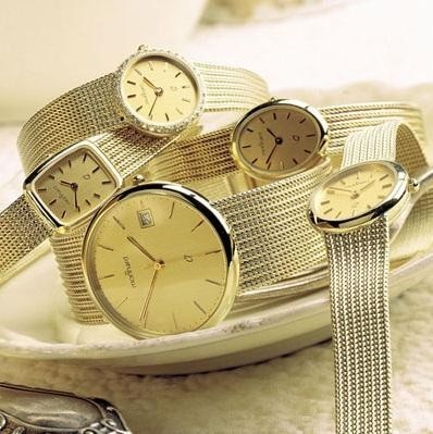 14 karaats gouden horloge met gouden band