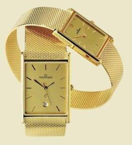 14 karaats gouden horloge met gouden milanese band