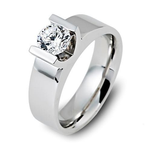 Solitaire briljant verlovingsring met 1,02 ct briljant geslepen diamant