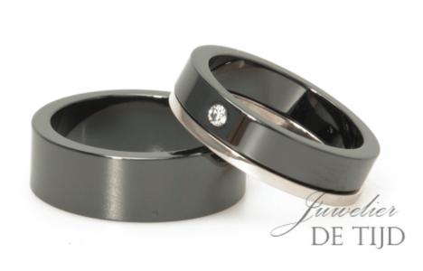 Bijzondere trouwringen van technisch keramiek