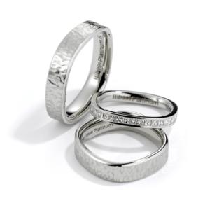 Platina design trouwringen Purest Forma