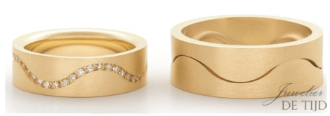 18 karaats gouden trouwringen Sinus