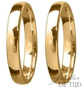 3mm brede Geel gouden trouwringen