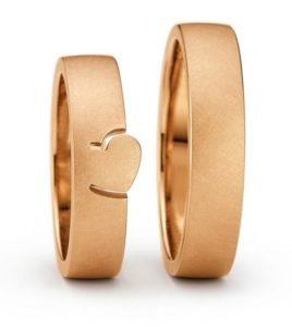 18 karaats rosé gouden trouwringen Pictura 5mm breed**