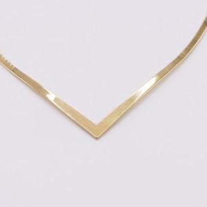 14 karaats geel gouden collier