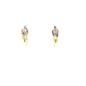 Geelgouden oorstekers met diamant
