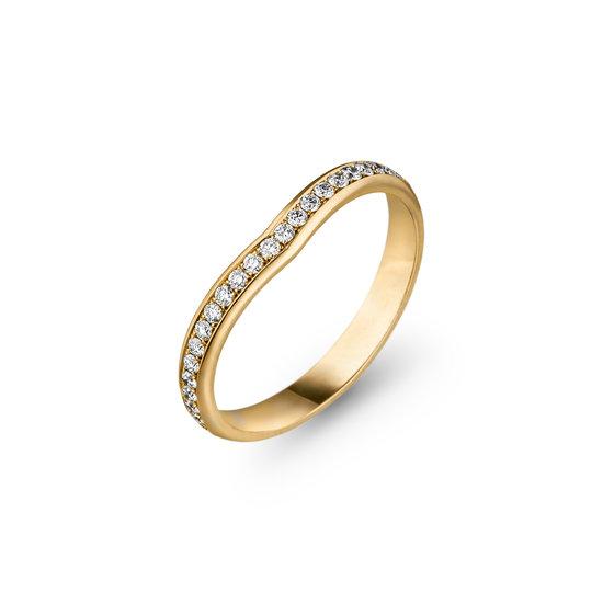 Design aanschuifring met briljant geslepen diamanten