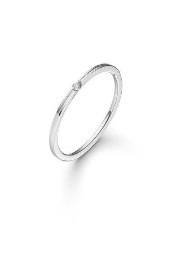 Design armband Liberté met één briljant geslepen diamant.