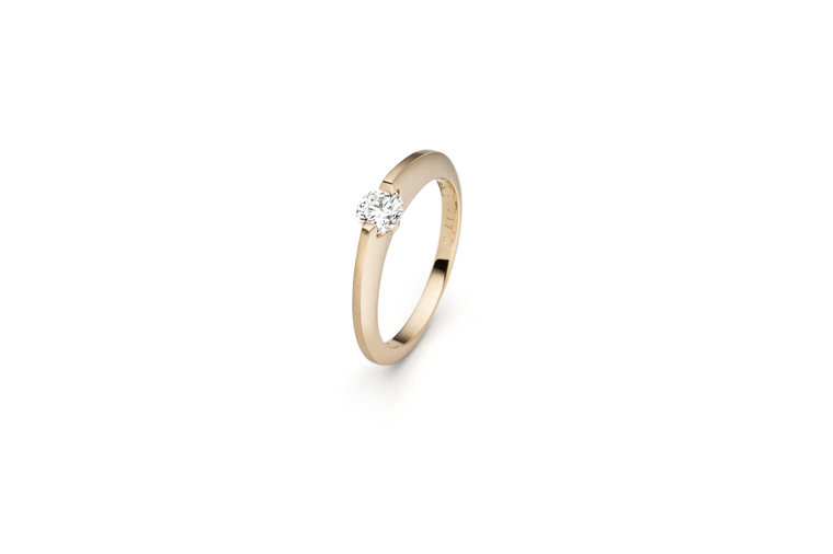 Design ring Liberté met één briljant geslepen diamant