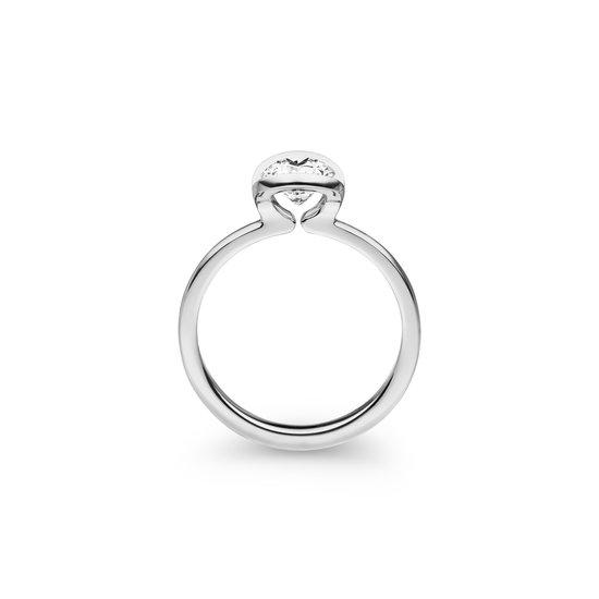 Design ring Nova met één briljant geslepen diamant