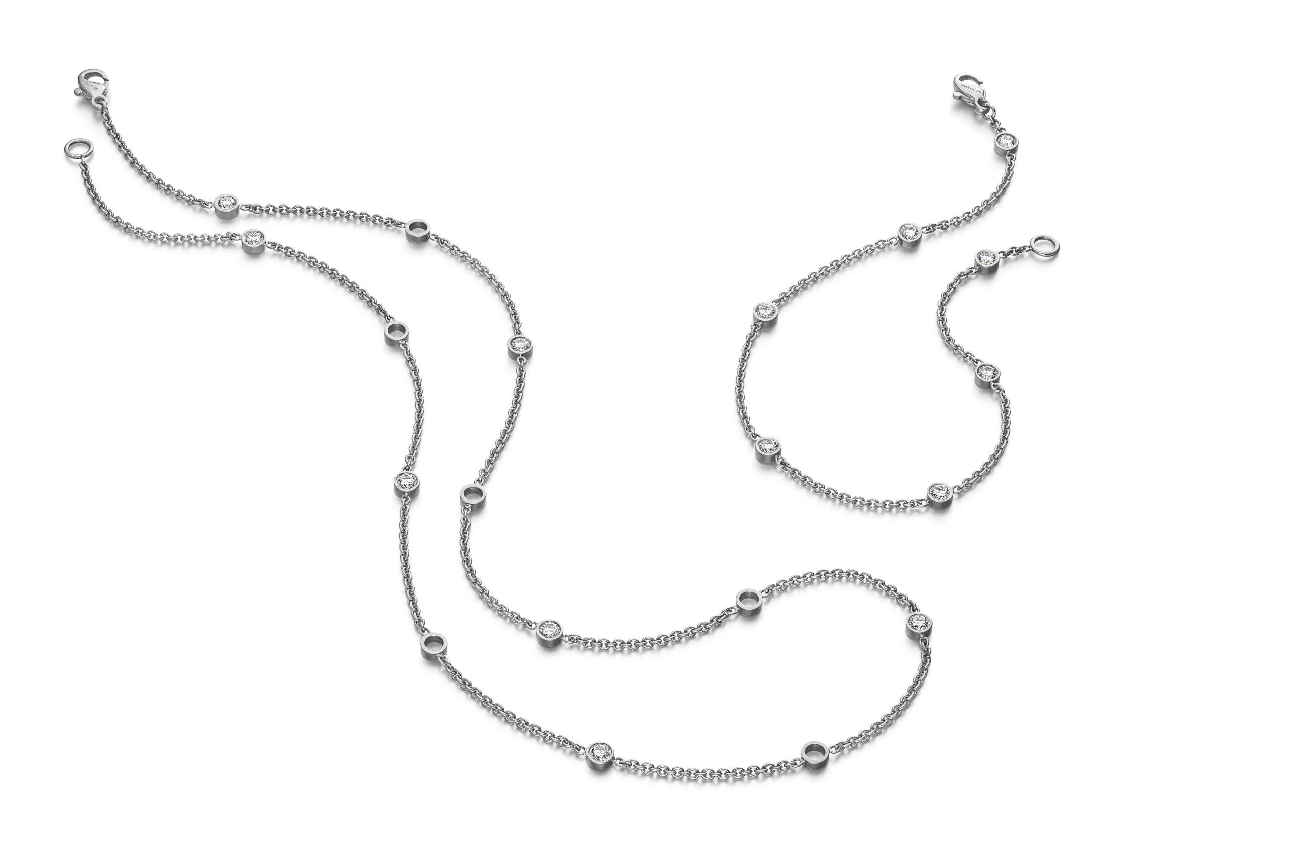 Design armband Fil met briljant geslepen diamanten