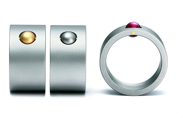 Edelstalen Niessing ring Rolls
