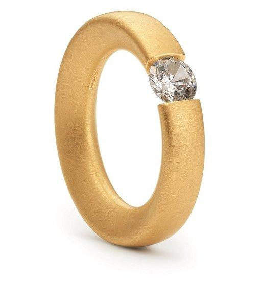 Gouden of platina spanring Triangel