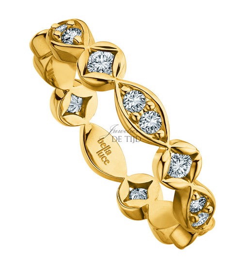 Gouden design ring Aurora