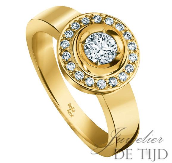 Gouden ring Carmen ® met briljant