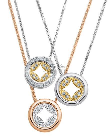 Bi-color wit/geel gouden collier Tamina ® met briljant