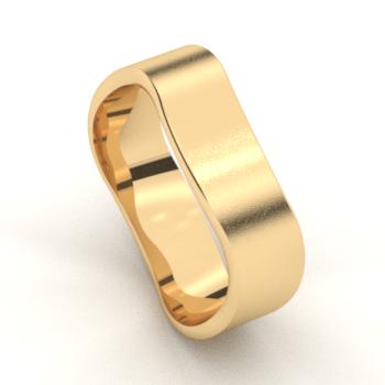 Geel gouden trouwringen met briljant geslepen diamanten