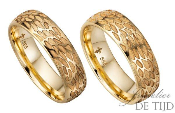 14 karaats geel gouden trouwringen Yvette