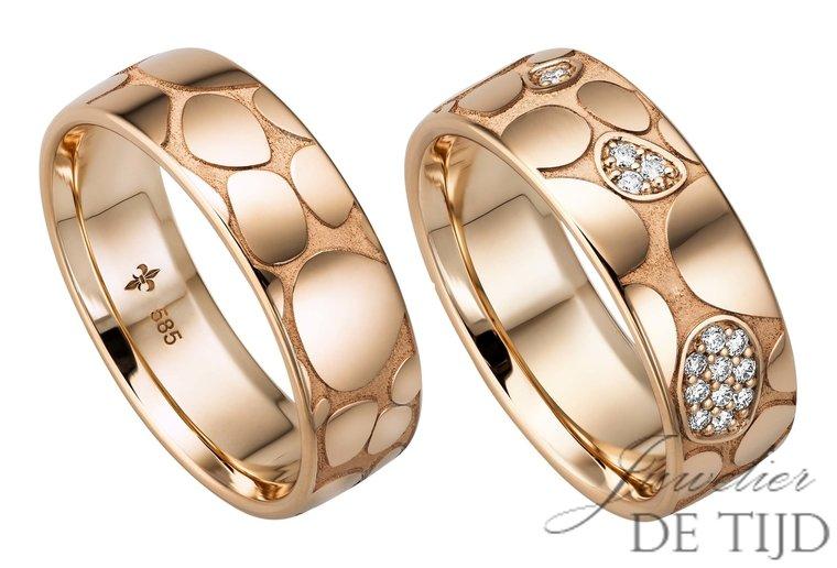 14 karaats rosé gouden trouwringen Cécile