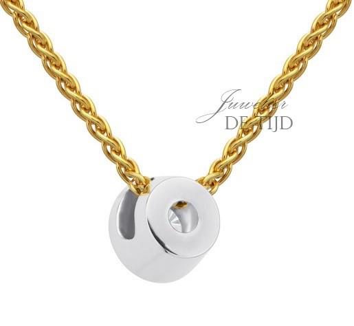 14 karaats Bi-color rood-wit gouden trouwringen met één briljant geslepen diamant.