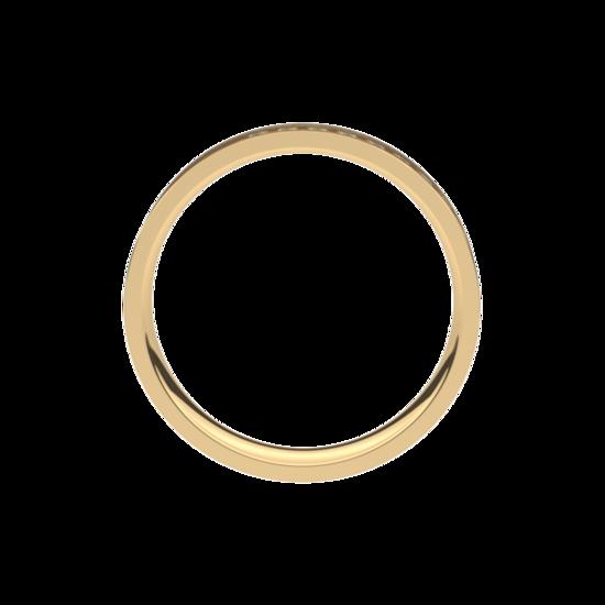 Geel gouden trouwringen 4,0mm breed met 10 briljant geslepen diamanten