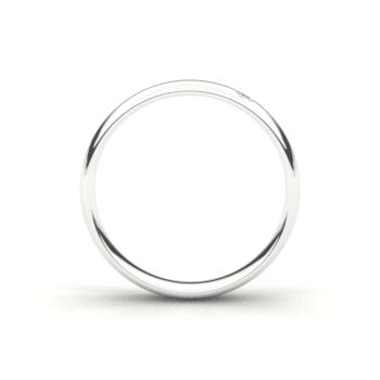 Wit gouden trouwringen 4,0mm breed met 1 briljant geslepen diamant