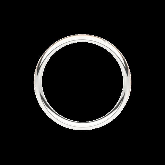 Wit met rosé gouden trouwringen 4,0mm breed met 1 briljant geslepen diamant