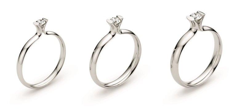 Primavera Spitzoval verlovingsring met briljant geslepen diamant