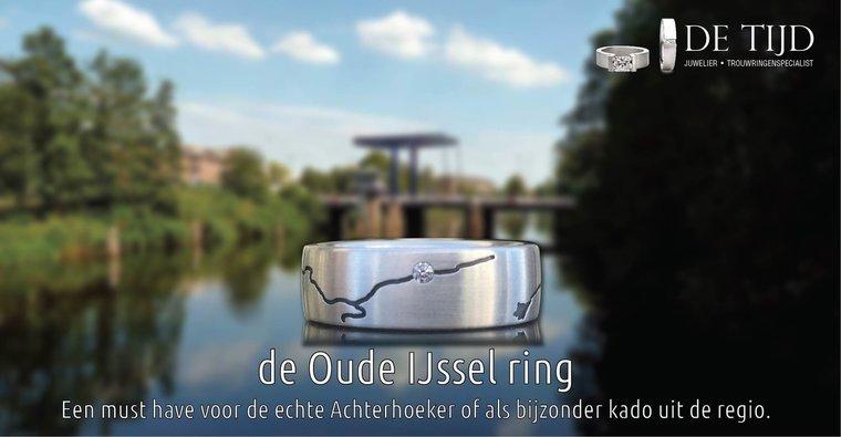 Zilveren ring Ijssel zonder briljant