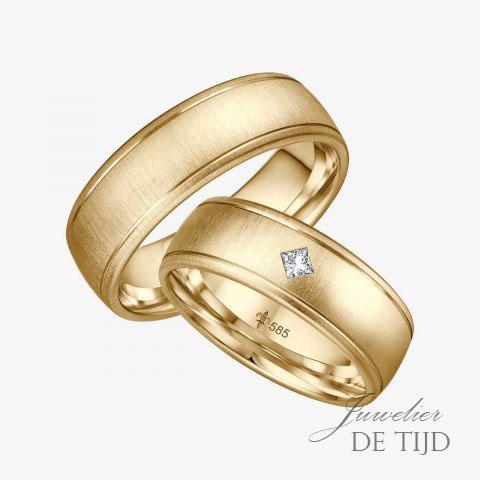 14 karaats wit gouden trouwringen Jeanne