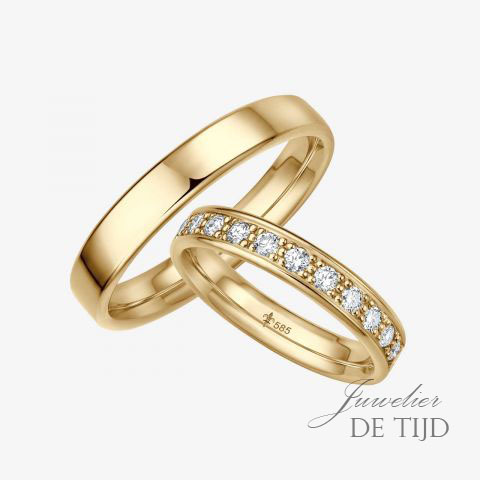 14 karaats wit gouden trouwringen Christine