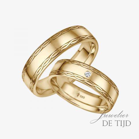 14 karaats wit gouden trouwringen Marie