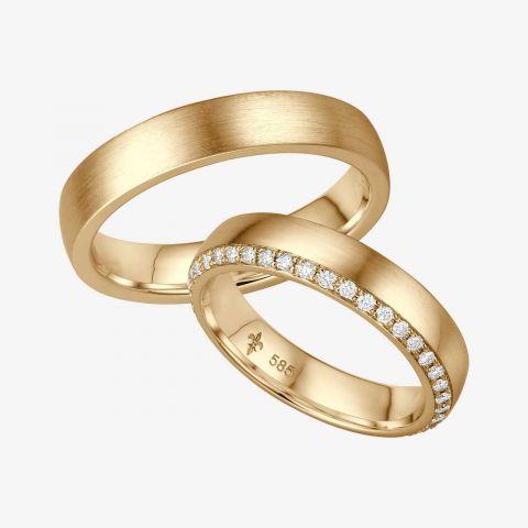 14 karaats wit gouden trouwringen Désirée