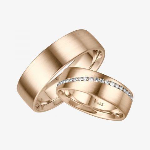 14 karaats wit gouden trouwringen Amélie