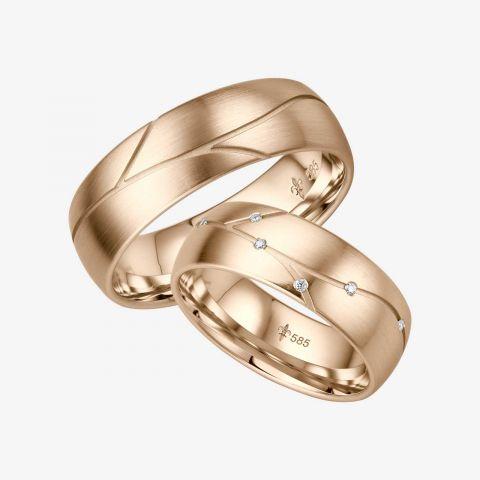 14 karaats wit gouden trouwringen Isabelle