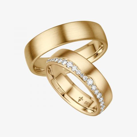 14 karaats wit gouden trouwringen Valérie