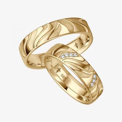 14 karaats wit gouden trouwringen Emy