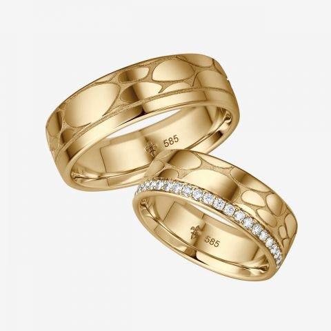 14 karaats wit gouden trouwringen Cara
