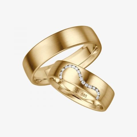 14 karaats wit gouden trouwringen Annabelle