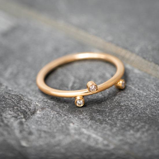 18 karaats rosé gouden Dew ring