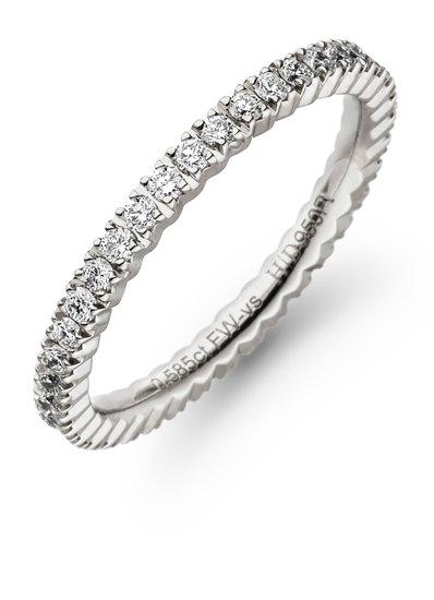 Alliance ring met 39 briljant geslepen diamanten