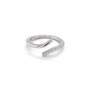 Witgouden design ring