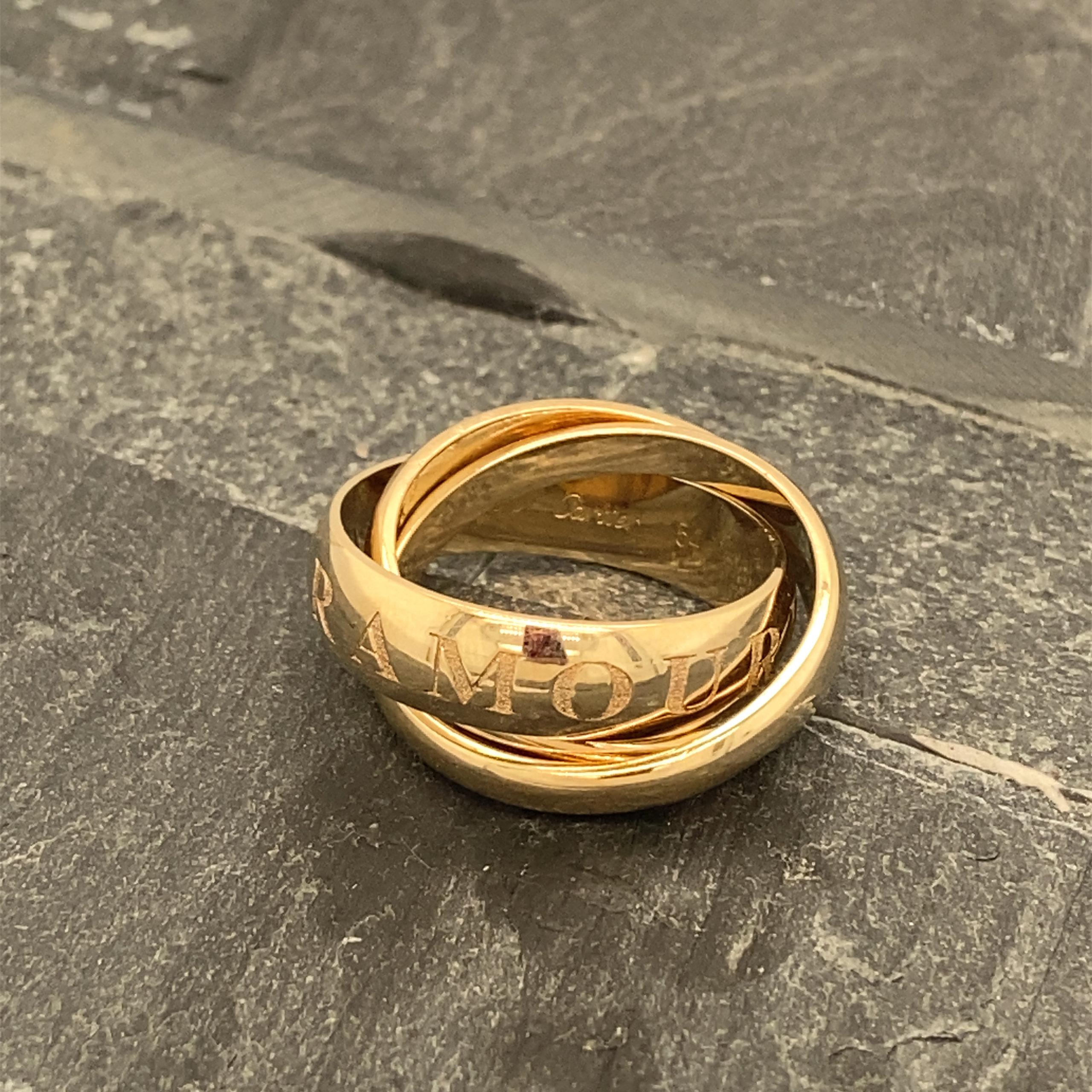 Cartier ring Trinity 18 karaats tricolor trois anneaux