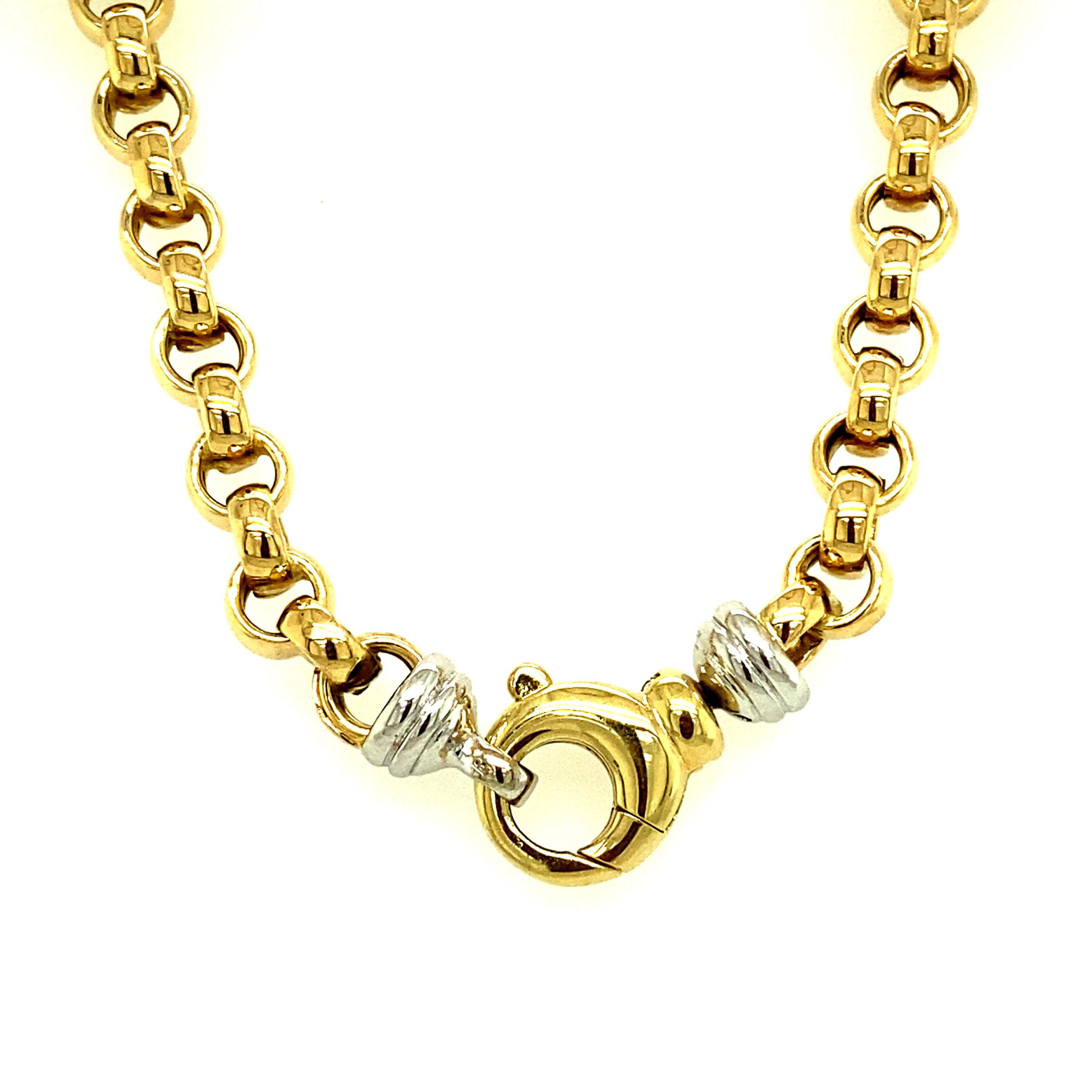 14 karaats geelgouden jasseron collier