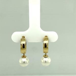 Set 14 karaats geelgouden creool oorstekers